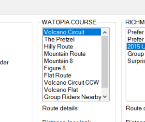 zwift-preferences now has Volcano route selection
