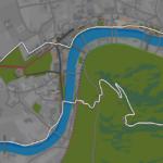 Greater London Loop in ZwiftMap